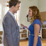 REAL MURDERS: AN AURORA TEAGARDEN MYSTERY - A mystery hits close to home for Aurora Teagarden, a librarian with a sharp mind for murder, when a member of the Real Murders Club she presides over is found dead. Aurora realizes the crime mirrors a case discussed by the club, and fears that one her members could either be the next target...or even the murderer!  With the help of a visiting mystery writer - and love interest - Aurora investigates the ongoing killing spree surrounding the club.  Aurora must use her sleuthing skills to solve the mystery before she or anyone else is a victim of real murder.  Photo: Robin Dunne, Candace Cameron Bure  Photo Credit:  Copyright 2015 Crown Media United States, LLC/Photographer: Eike Schroter