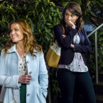 REAL MURDERS: AN AURORA TEAGARDEN MYSTERY - A mystery hits close to home for Aurora Teagarden, a librarian with a sharp mind for murder, when a member of the Real Murders Club she presides over is found dead. Aurora realizes the crime mirrors a case discussed by the club, and fears that one her members could either be the next target...or even the murderer!  With the help of a visiting mystery writer - and love interest - Aurora investigates the ongoing killing spree surrounding the club.  Aurora must use her sleuthing skills to solve the mystery before she or anyone else is a victim of real murder.  Photo: Candace Cameron Bure, Lexa Doig  Photo Credit:  Copyright 2015 Crown Media United States, LLC/Photographer: Eike Schroter
