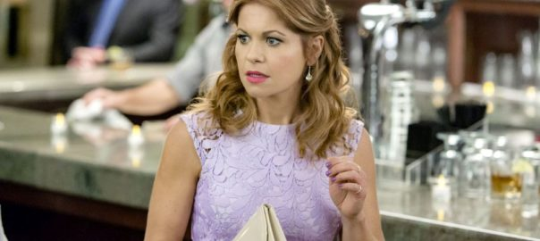Aurora Teagarden is a beautiful young librarian with a passion for solving murders. At an open house showing, Aurora meets Martin Bartell, a charismatic gentleman with a mysterious past, and happens upon the body of a local realtor who was strangled in the backyard. When the police arrive at the crime scene and open a homicide investigation, Aurora decides to launch an investigation of her own.  Photo: Candace Cameron Bure  Credit: Copyright 2016 Crown Media United States LLC/Photographer: Bettina Strauss
