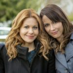 Aurora Teagarden is a beautiful young librarian with a passion for solving murders. At an open house showing, Aurora meets Martin Bartell, a charismatic gentleman with a mysterious past, and happens upon the body of a local realtor who was strangled in the backyard. When the police arrive at the crime scene and open a homicide investigation, Aurora decides to launch an investigation of her own.  Photo: Candace Cameron Bure; Lexa Doig  Credit: Copyright 2016 Crown Media United States LLC/Photographer: Bettina Strauss