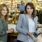 Aurora Teagarden is a beautiful young librarian with a passion for solving murders. At an open house showing, Aurora meets Martin Bartell, a charismatic gentleman with a mysterious past, and happens upon the body of a local realtor who was strangled in the backyard. When the police arrive at the crime scene and open a homicide investigation, Aurora decides to launch an investigation of her own.  Photo:Candace Cameron Bure; Lexa Doig  Credit: Copyright 2016 Crown Media United States LLC/Photographer: Bettina Strauss