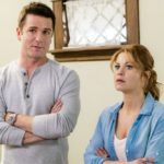 Aurora Teagarden is a beautiful young librarian with a passion for solving murders. After an exhaustive search for the perfect home, Aurora finally purchases her dream house, unaware of its murky history. As she prepares to move in, Aurora discovers that the family who once lived there mysteriously disappeared without a trace.  Photo:Yannick Bisson, Candace Cameron Bure  Credit: Copyright 2016 Crown Media United States LLC/Photographer: David Dolsen